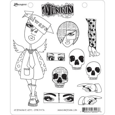 Dylusions Cling Stamps - Dependable dotty