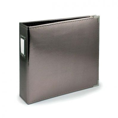 We R Memorykeepers Classic Leather Album 12x12 - Silver