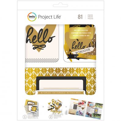 Project Life Value Kit 81/Pkg-Be Fearless W/Gold Foil Treatments