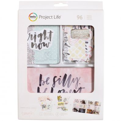 Project Life Value Kit 96/Pkg-Inspired W/Stitching & Die-Cuts