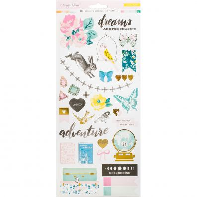"""Maggie Holmes Chasing Dreams Stickers 6""""X12"""" 2/Pkg-W/Gold Foil"""
