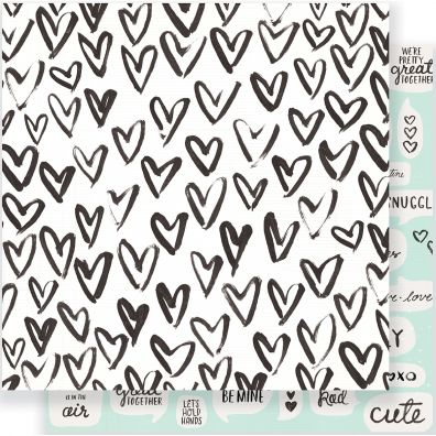 """Heart Day Double-Sided Cardstock 12""""X12""""-Snuggles"""
