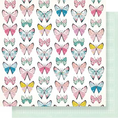 """Maggie Holmes Chasing Dreams Double-Sided Cardstock 12""""X12""""-Monarch"""