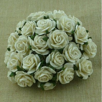 Mulberry Open Roses Ivory 25 mm