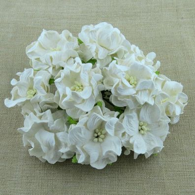 Gardenia Flowers White 35 mm