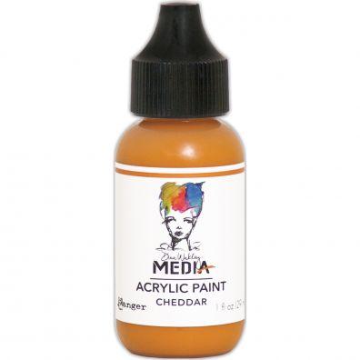 "Dina Wakley - Media Acrylic Paint ""Cheddar"""
