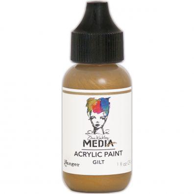 "Dina Wakley - Media Acrylic Paint ""Gilt"""