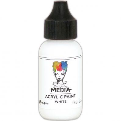 """Dina Wakley - Media Acrylic Paint """"White"""""""