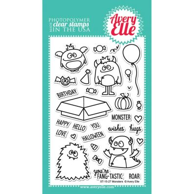 Avery Elle - Monsters clearstamp