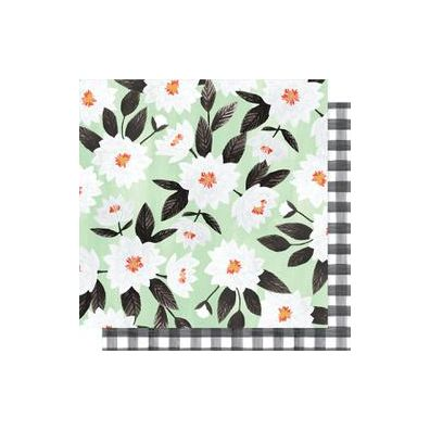 "Hazelwood Double-Sided Cardstock 12""X12""-Hazel Gingham"