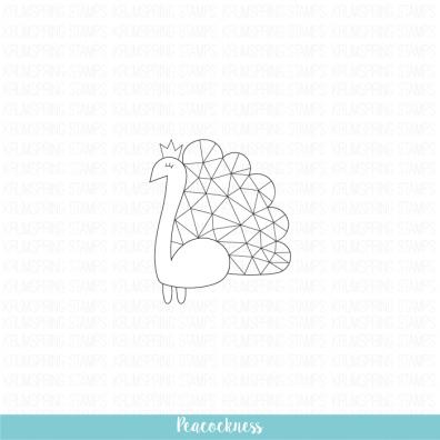 Krumspring clear stamp - Peacockness