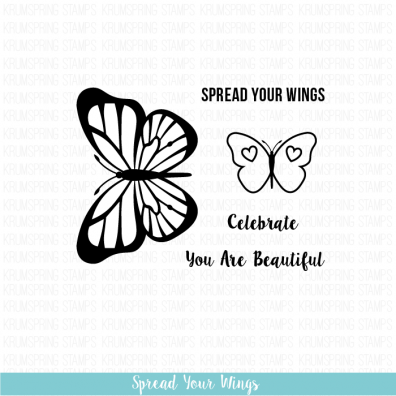 Krumspring clear stamps - Spread your wings