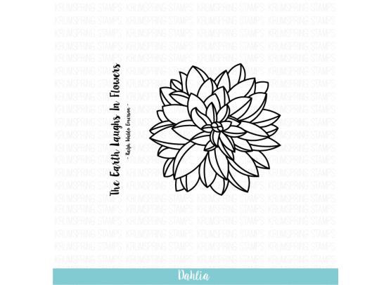 Krumspring clear stamp - Dahlia