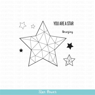 Krumspring clear stamp - Star power