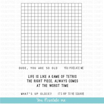Krumspring clear stamp - You pixelate me