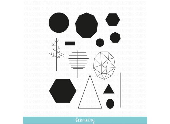 Krumspring clear stamp - Geometry