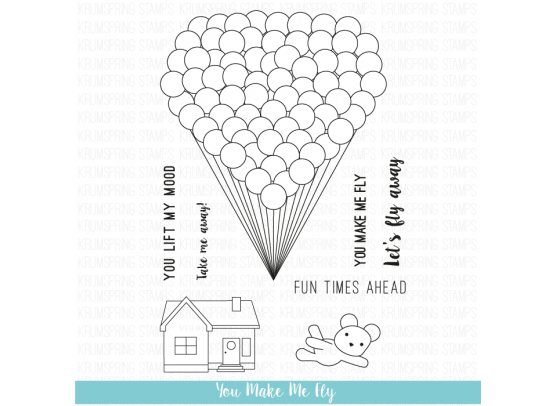 Krumspring clear stamp - You make me fly
