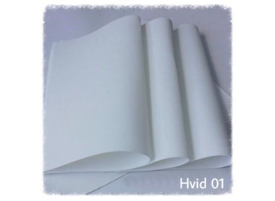 Foamiran hvid 30x35 cm.