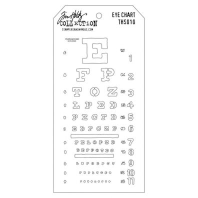 Tim Holtz Stencil/ Mask - Eye Chart