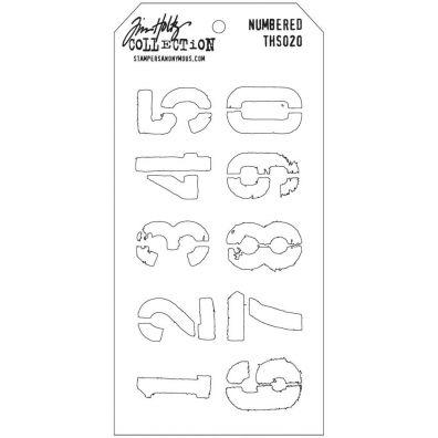 Tim Holtz Stencil/ Mask - Numbered