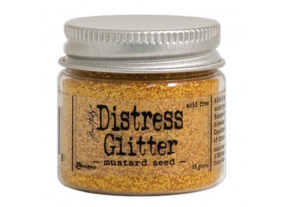 Distressed Glitter - Mustard Seed