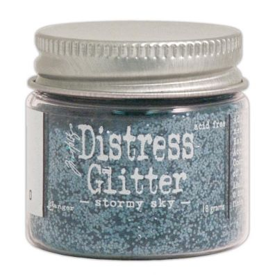 Distressed Glitter - Stormy Sky