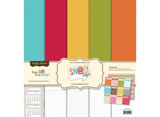 Simple Stories Snap Life Simple Basics Kit 12x 12