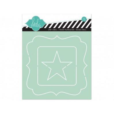 Heidi Swapp 6x6 stencil - Nested Star