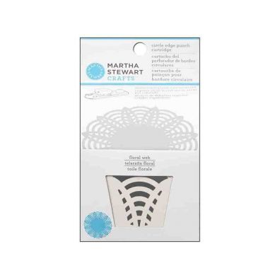Martha Stewart Circle Edge Punch - Floral Web