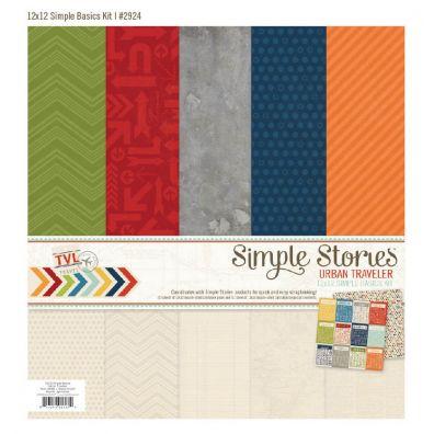 Simple Stories Urban Traveller Simple Basics Kit 12x 12
