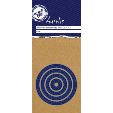 Aurelie Dies Mini Cross-Stitched Nesting Circle