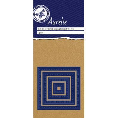 Aurelie Dies Mini Cross-Stitched Nesting Square