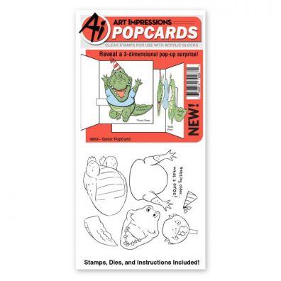 Art Impressions - Gator PopCard