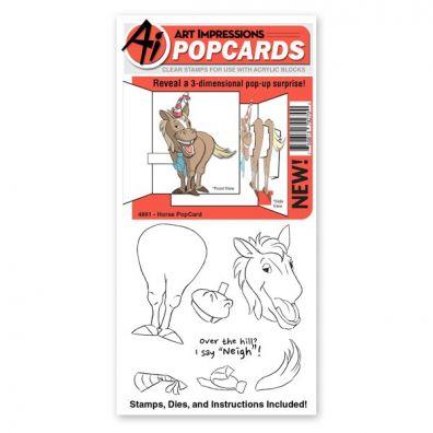 Art Impressions - Horse PopCard