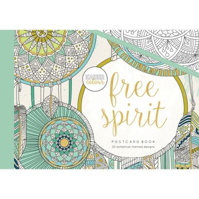 Kaiser Craft Colouring Postcard Book – Free Spirit