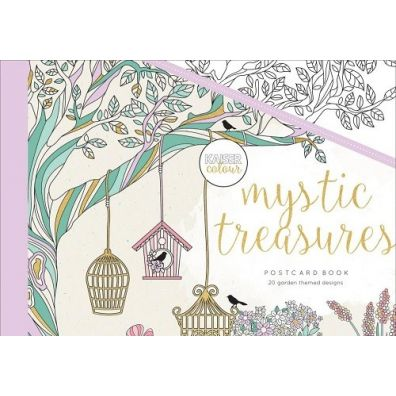Kaiser Craft Colouring Postcard Book – Mystic Treasures