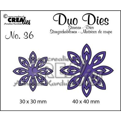 Crealies Duo Dies - 2 Blomster
