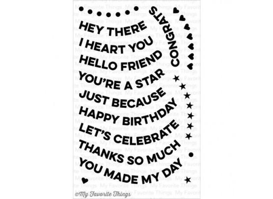 My Favorite Things Clear Stamp - Wavy Greetings