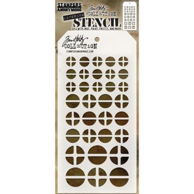"Tim Holtz stencil - ""Screwed"""