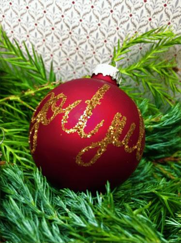 Dekoration af julekugler
