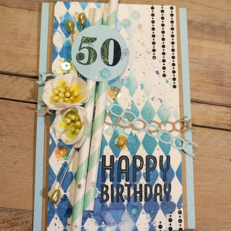 Fødselsdagskort med Oxides og Foamiran