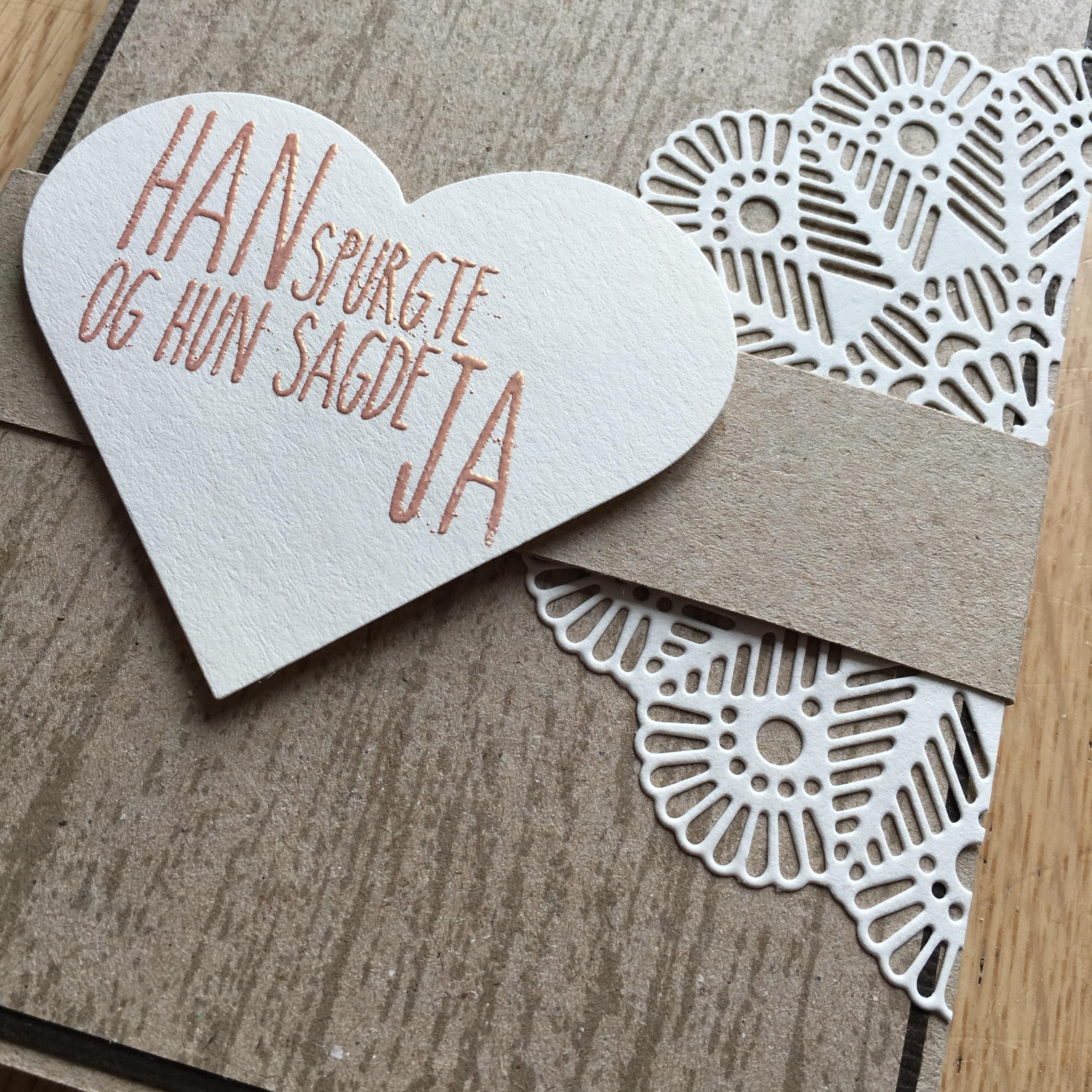 Bryllupsinvitation - enkel og elegant