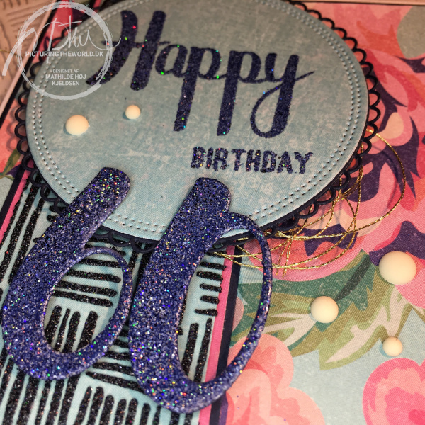 Fødselsdagskort til den runde dag