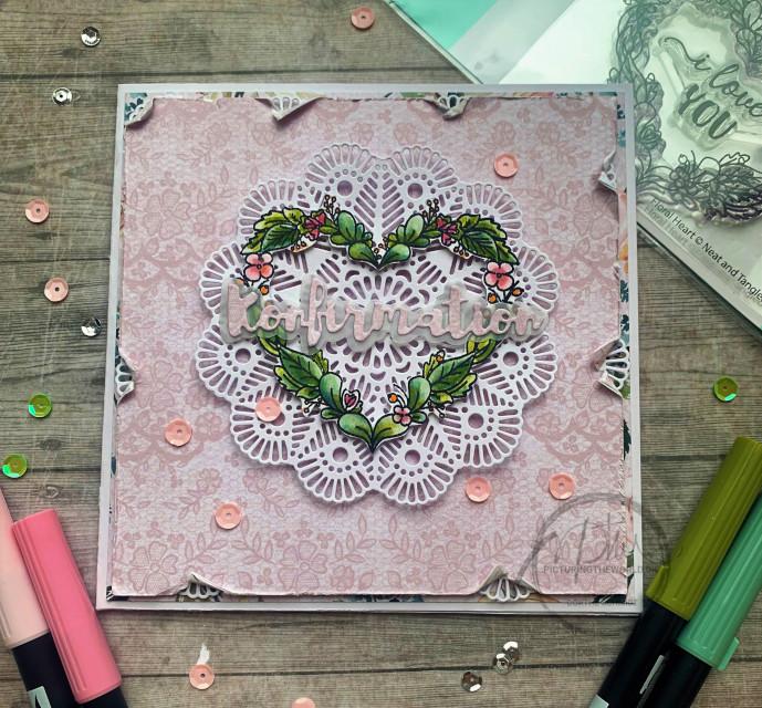 Romantisk og simpel konfirmationskort