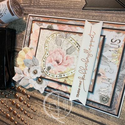 Et romantisk kort med Mintay-papir