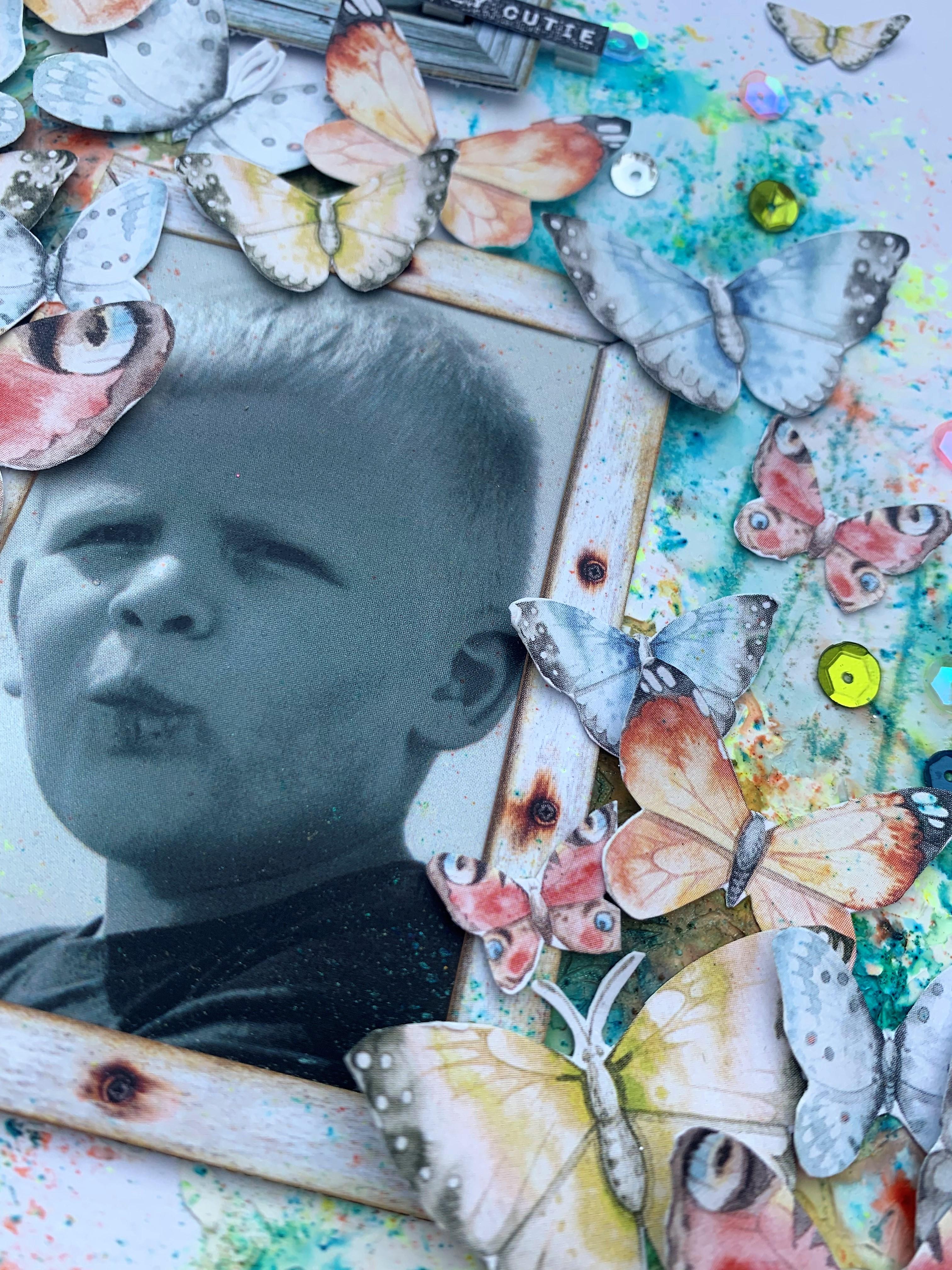 Layout fyldt med sommerfugle