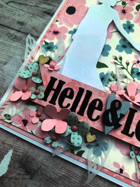 Romantisk bryllupskort