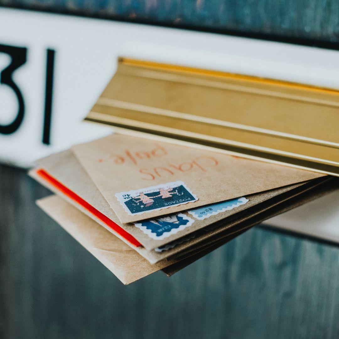 Scrapbooking brevkassen